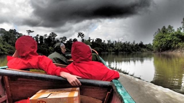 Płyniemy rzeką Braza , fot. Jerzy Kostrzewa