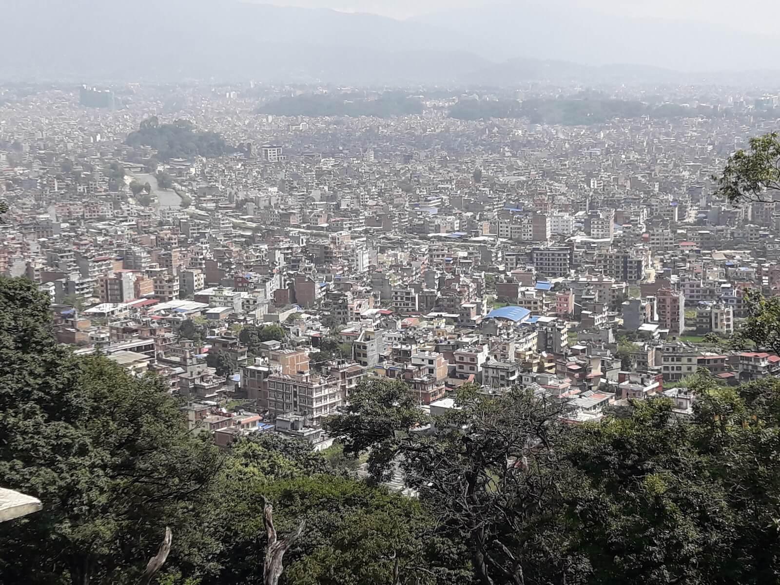Kathmandu widziane z wzgórza Swajambunath - fot. Jerzy kostrzewa