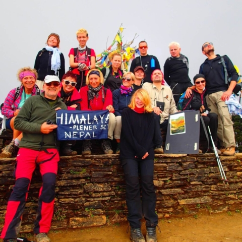 Grupa pleneru adventure-expedition w Himalajach - fot. Jerzy Kostrzewa