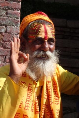 Swięty Sadhu w Kathmandu - fot. Jerzy Kostrzewa