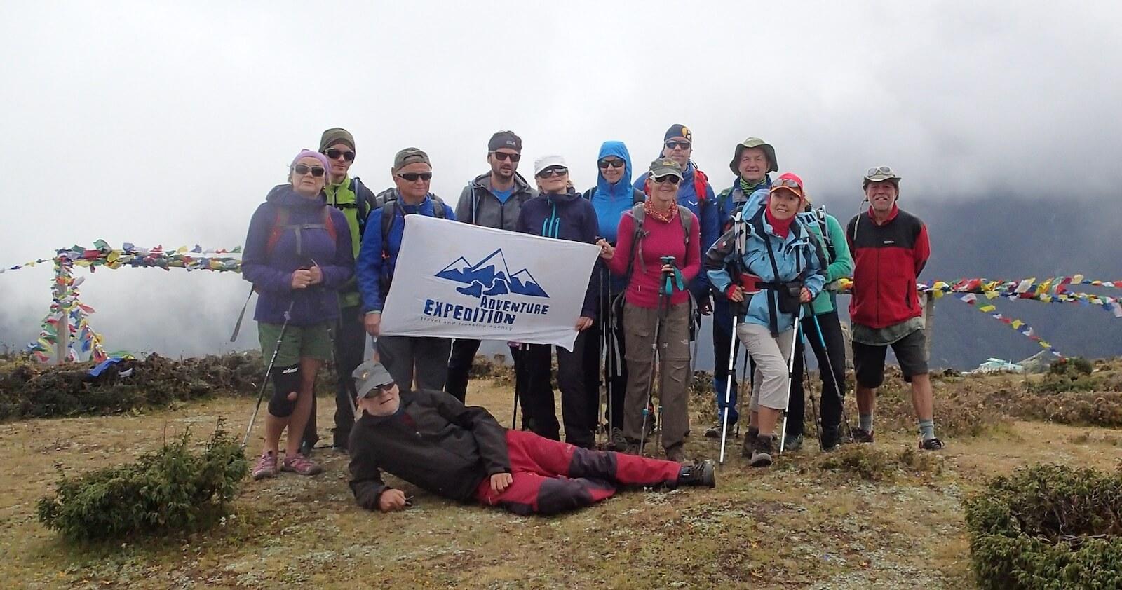 Nasza grupa na treku pod Everest