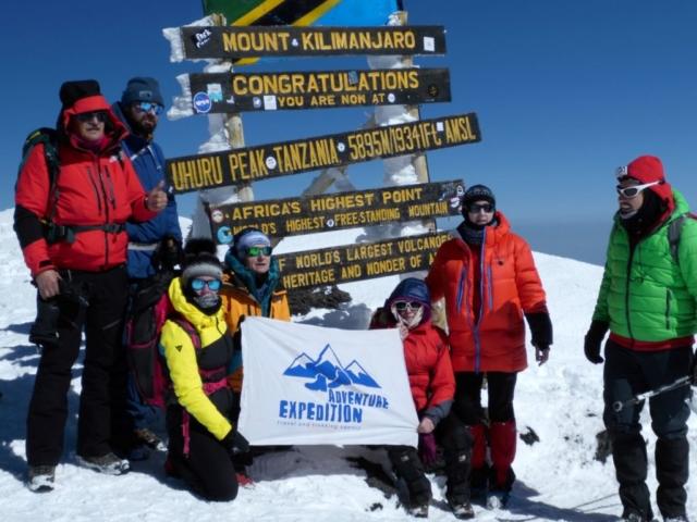 Na szczycie Uhuru , Kilimanjaro - fot. Tomek Zaboklicki